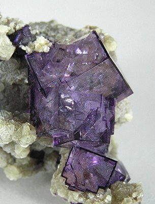 Purple fluorite crystals