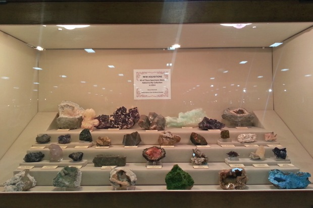 A display made by Bruce from IGAMS showing his new acquisitions from 2014.