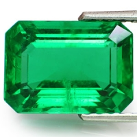 A gem quality emerald cut in the octagonal emerald cut.