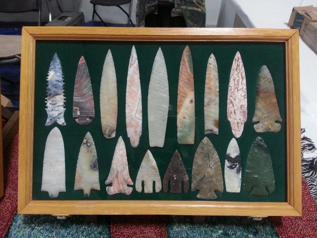 Arrowheads made by the Flint Knappers.