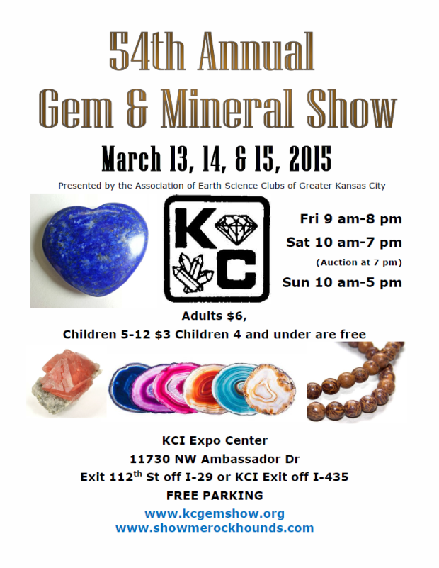 Flyer giving information about the gem show