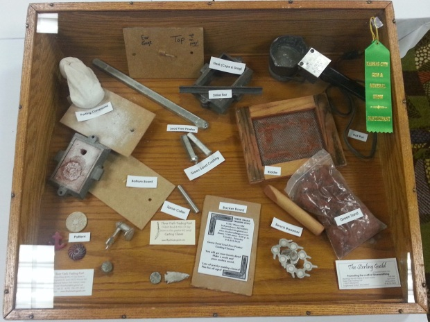 A display of metalworking tools made by the Sterling Guild.