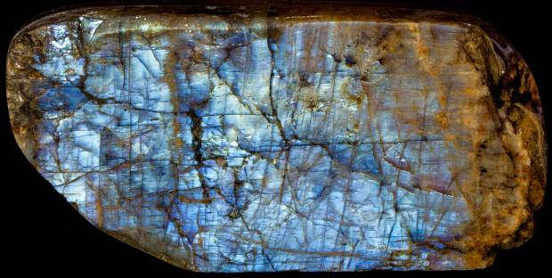 Anorthoclase moonstone from Wisconsin.