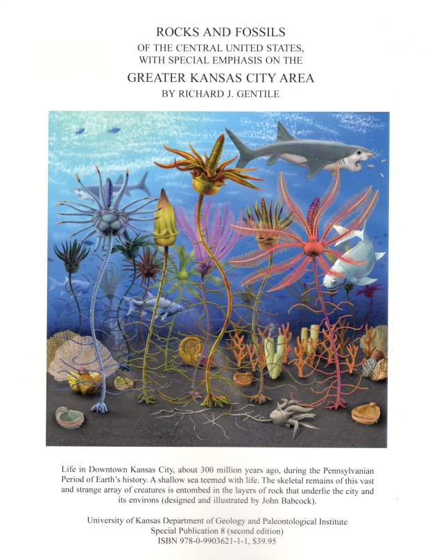 The back cover of Richard Gentile's book, Rocks and Fossils of the Central United States with Special Emphasis on the Greater Kansas City Area