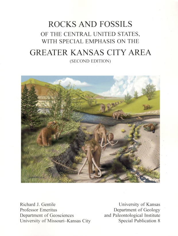 The front cover of Richard Gentile's book, Rocks and Fossils of the Central United States with Special Emphasis on the Greater Kansas City Area