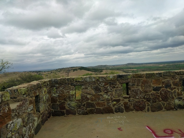 Coronado Heights wall with battlements