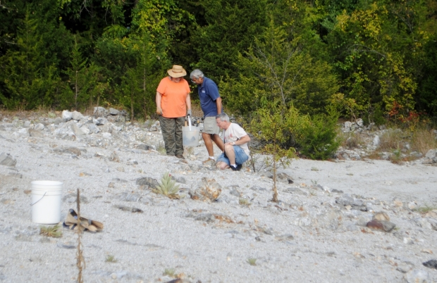 people looking at rocks collecting rocks joplin