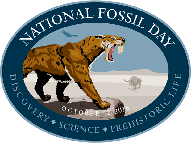 National Fossil Day saber-toothed cat long-horned bison condor