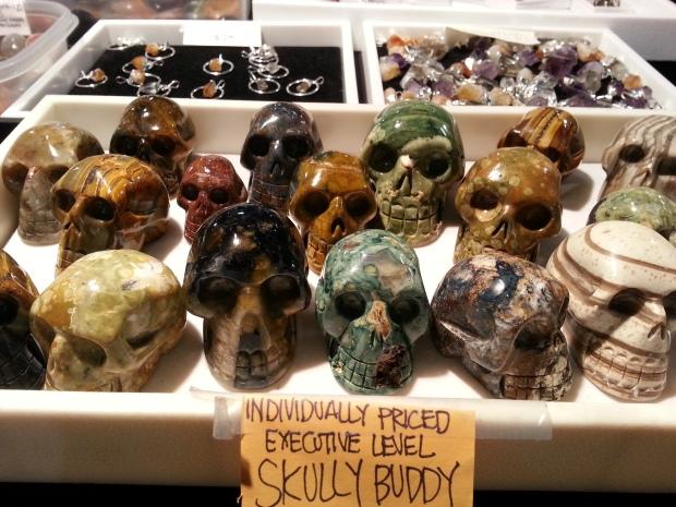 carved mineral skulls