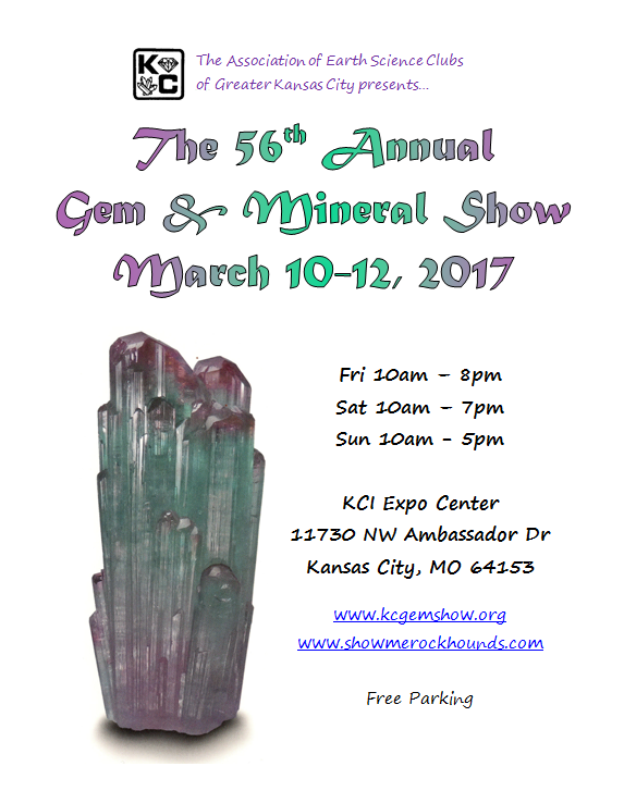spring 2017 kansas city gem and mineral show tourmaline