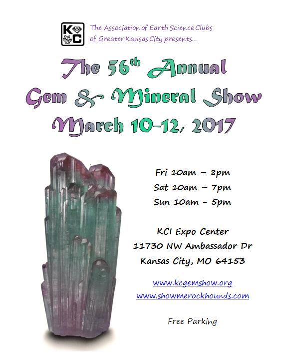 spring 2017 kansas city gem and mineral show tourmaline