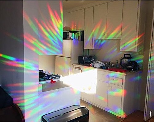 rainbows all over a kitchen